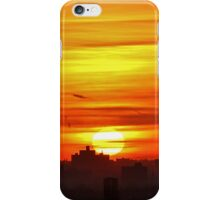 Sunset in New York City  iPhone Case/Skin