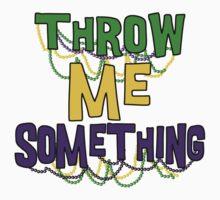 Mardi Gras Throw Me Something One Piece - Long Sleeve