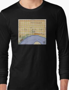 French Quarter Map Long Sleeve T-Shirt