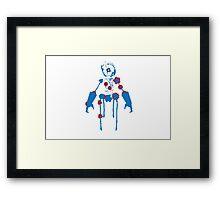 Ink Blot Ro-Bot (Blue Recolor) Framed Print