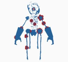 Ink Blot Ro-Bot (Blue Recolor) One Piece - Short Sleeve