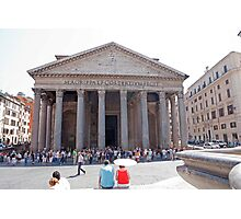 The Pantheon in Rome Photographic Print