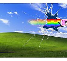 Windows Background/Nyan Cat by Lutubert