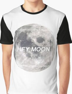 Hey Moon (White on Dark) - Northern Downpour - Pretty. Odd. - Panic! at the Disco Graphic T-Shirt