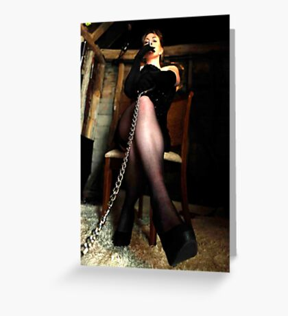 Slave Training from the Mistress Greeting Card