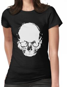 WHITE SKULL Womens Fitted T-Shirt