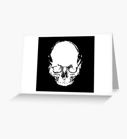 WHITE SKULL Greeting Card