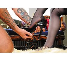 The Goddess's worshipped Shoes Photographic Print