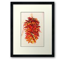 Chili Peppers Ristra Decoration Framed Print