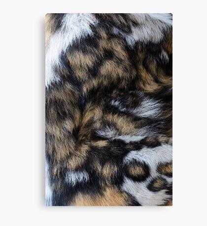 African Wild Dog Fur Canvas Print