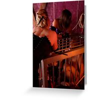 Caged for the Mistress's Amusement Greeting Card