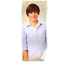 celebrities  zack efron art Poster