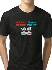 wibbly wobbly timey wimey stuff in 3D Tri-blend T-Shirt