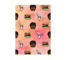 Pulp Fiction Big Kahuna Burger Pattern Art Print