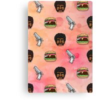 Pulp Fiction Big Kahuna Burger Pattern Canvas Print