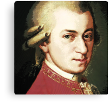 celebrities  wolfgang amadeus mozart Canvas Print