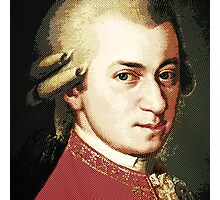 celebrities  wolfgang amadeus mozart Photographic Print
