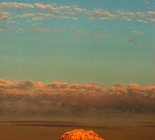 Mt.Rainier Sunset by TIMOTHY  POLICH