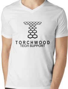Torchwood Tech Support Mens V-Neck T-Shirt