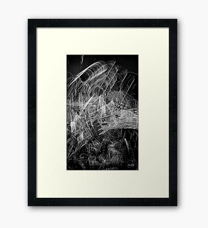 White light painting#3089 Framed Print