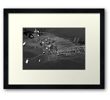 White light painting#3090 Framed Print