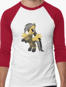 My Little Military Pony Men's Baseball ¾ T-Shirt