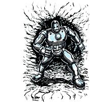 One Small Step for Iron Man Photographic Print