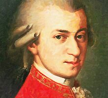 celebrities  wolfgang amadeus mozart 2 by Adam Asar
