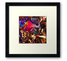 Where fire meets light Framed Print