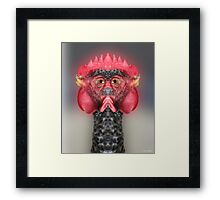 The Chickenator Framed Print