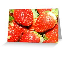 Strawberry backgrounds. Greeting Card