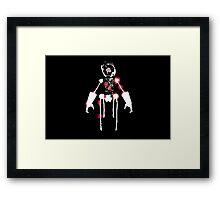 Ink Blot Ro-Bot (White recolor) Framed Print