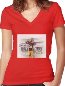 RG3 Shirt Women's Fitted V-Neck T-Shirt