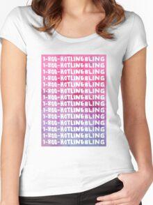Hotline Bling Drake Watercolour Illustration Women's Fitted Scoop T-Shirt
