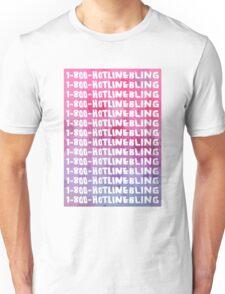 Hotline Bling Drake Watercolour Illustration Unisex T-Shirt