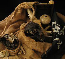 Pirate Black Christmas Balls by INma Gallego Gómez - Pastrana