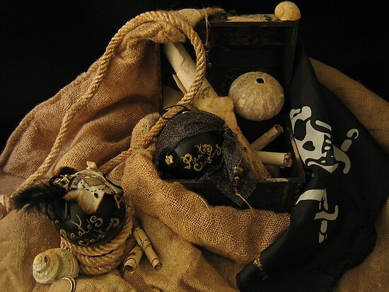 Pirate Black Christmas Balls by INma Gallego Gómez - Pastrana