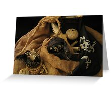 Pirate Black Christmas Balls Greeting Card