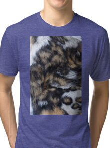 African Wild Dog Fur Tri-blend T-Shirt