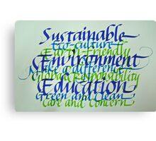 Eco-consciousness Canvas Print