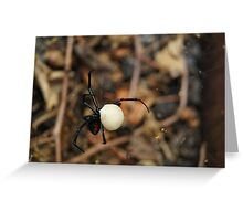 Black Widow Spider Mother Greeting Card