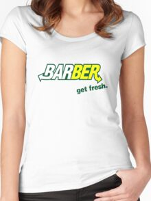 "Barber Get Fresh  ""Subway"" Women's Fitted Scoop T-Shirt"