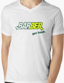 "Barber Get Fresh  ""Subway"" Mens V-Neck T-Shirt"