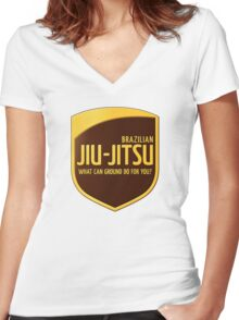 Jiu-Jitsu Women's Fitted V-Neck T-Shirt