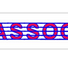 Bassoon Red White & Blue Sticker