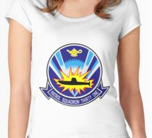 VP-31 Black Lightning Crest Women's Fitted Scoop T-Shirt