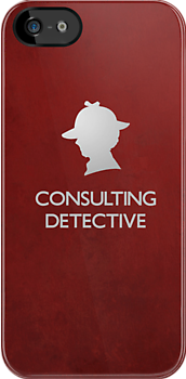 Sherlock Silhouette iPad/iPhone Case - Red by jlechuga