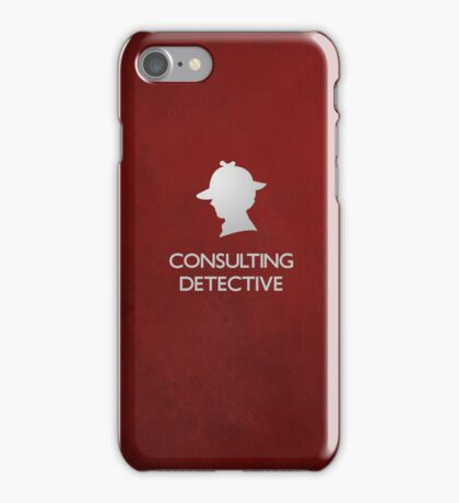 Sherlock Silhouette iPad/iPhone Case - Red iPhone Case/Skin