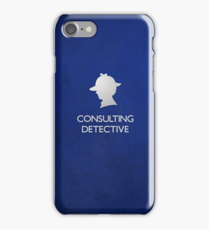Sherlock Silhouette iPad/iPhone Case - Blue iPhone Case/Skin
