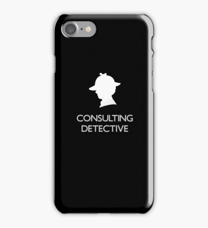 Sherlock Silhouette iPad/iPhone Case - Black iPhone Case/Skin